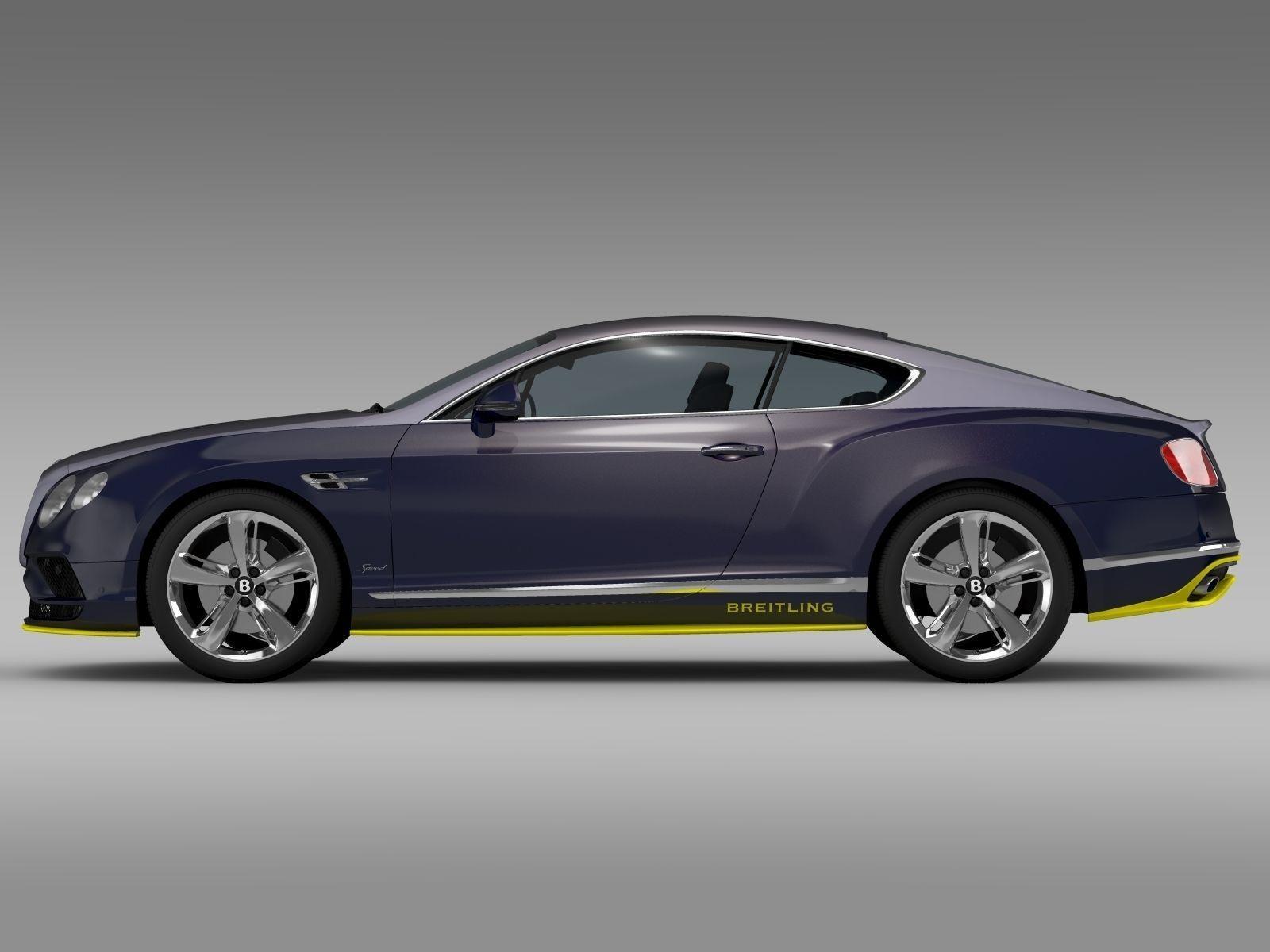 Bentley Continental GT Speed Breitling Jet Team Series 2016 3D model ...