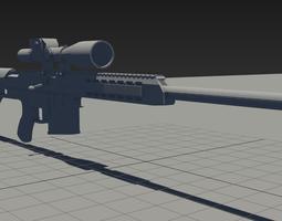 M98B Sniper Rifle 3D model