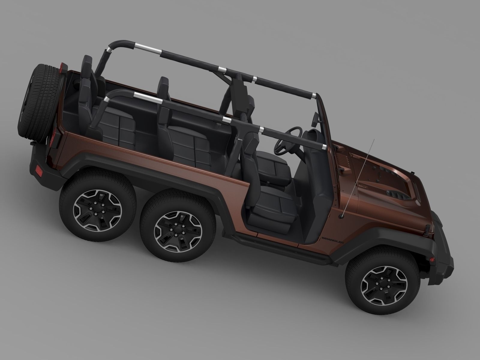 Jeep Wrangler Rubicon 6x6 2016 3d Model Max Obj 3ds Fbx