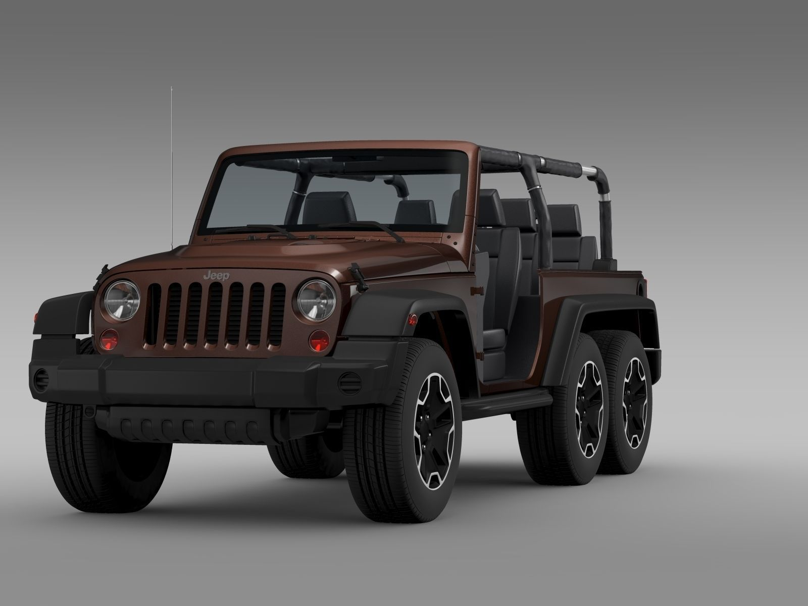 jeep wrangler rubicon 6x6 2016 3d model max obj 3ds fbx c4d lwo lw lws. Black Bedroom Furniture Sets. Home Design Ideas