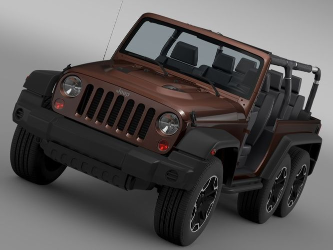 Jeep Wrangler Rubicon 6x6 20163D model