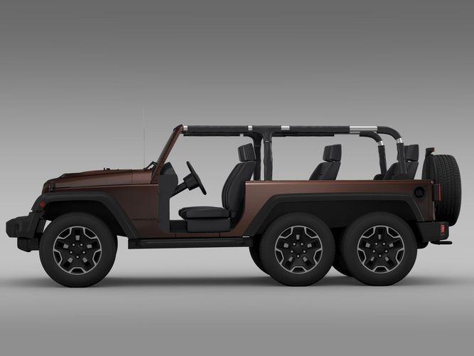 Jeep Wrangler Rubicon 6x6 2016 3d Model Max Obj 3ds