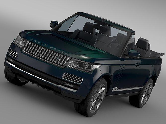 range rover autobiography black lwb cabrio l405 2016 3d model max obj 3ds fbx c4d lwo lw lws. Black Bedroom Furniture Sets. Home Design Ideas