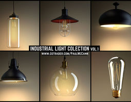 3D model INDUSTRIAL LIGHTS collection vol 1