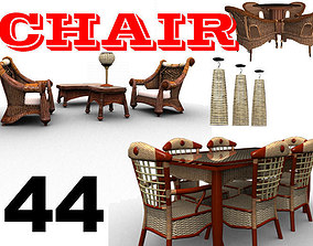 44 Classic Chairs Collection 3D