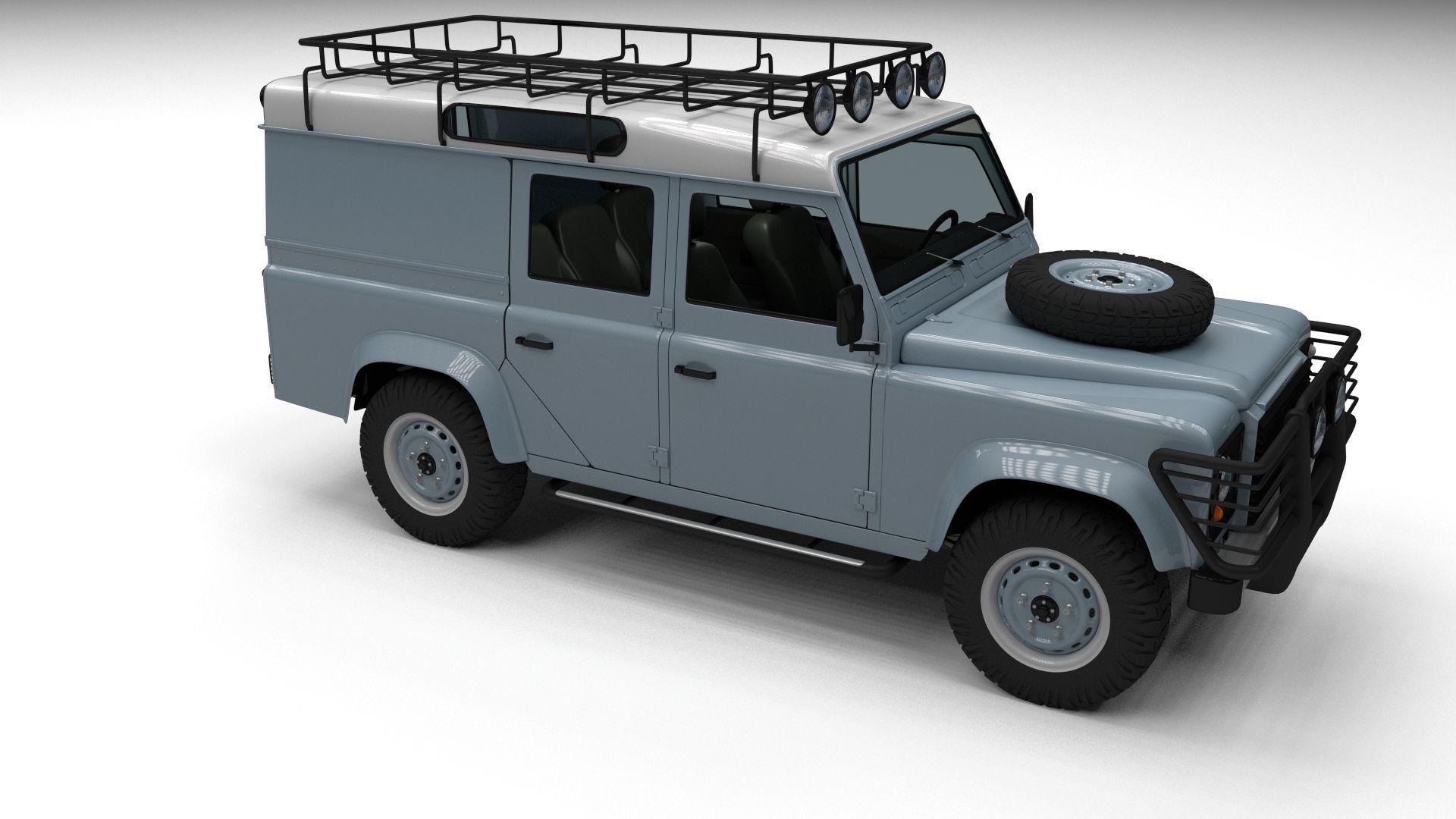 land rover defender 110 utility station wa 3d model obj fbx stl blend dae. Black Bedroom Furniture Sets. Home Design Ideas
