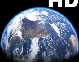incredible hd earth planet - 3d model animated