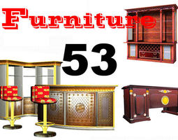 53 classic furnitures collection 3d model