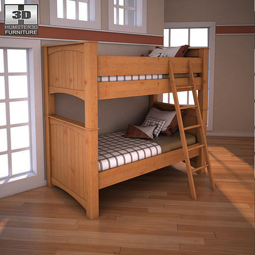 3d Model Ashley Stages Twin Bunk Bed Cgtrader