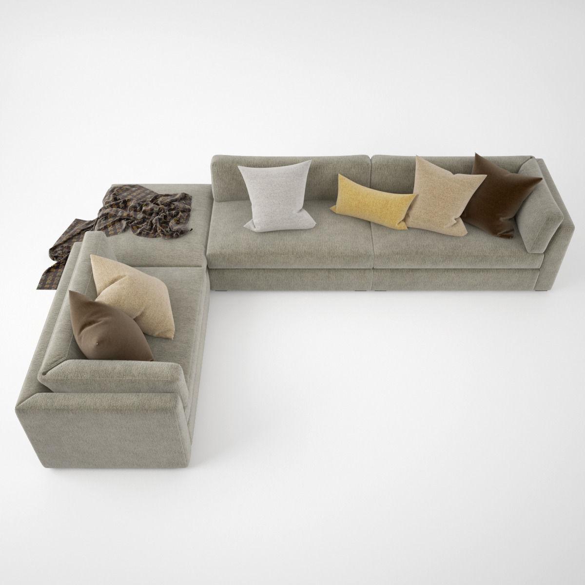 ... Busnelli Oh Mar Corner Sectional Sofa 3d Model Max Obj Fbx 6 ...