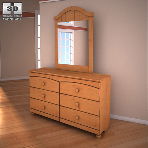 Ashley Stages Bunk Bedroom Set 3d Model Game Ready Max