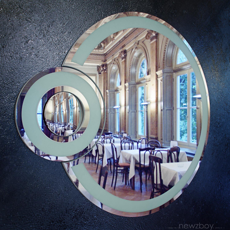 Round bathroom mirror with light ECLIPSE free VR / AR ...