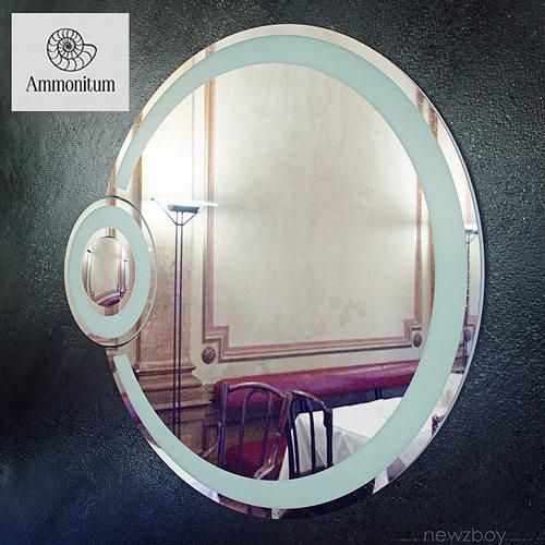 round bathroom mirror with light eclipse 3d model max obj fbx mtl 1