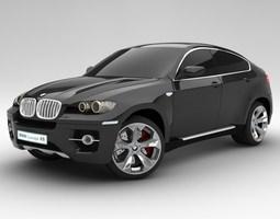 BMW X6 standard materials 3D Model