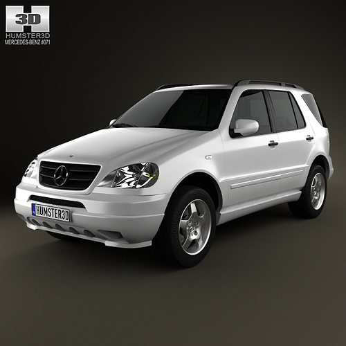 3d mercedes benz m class w163 1997 cgtrader for Mercedes benz suv models list