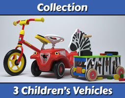 Childrens Vehicles Collection 3D Model