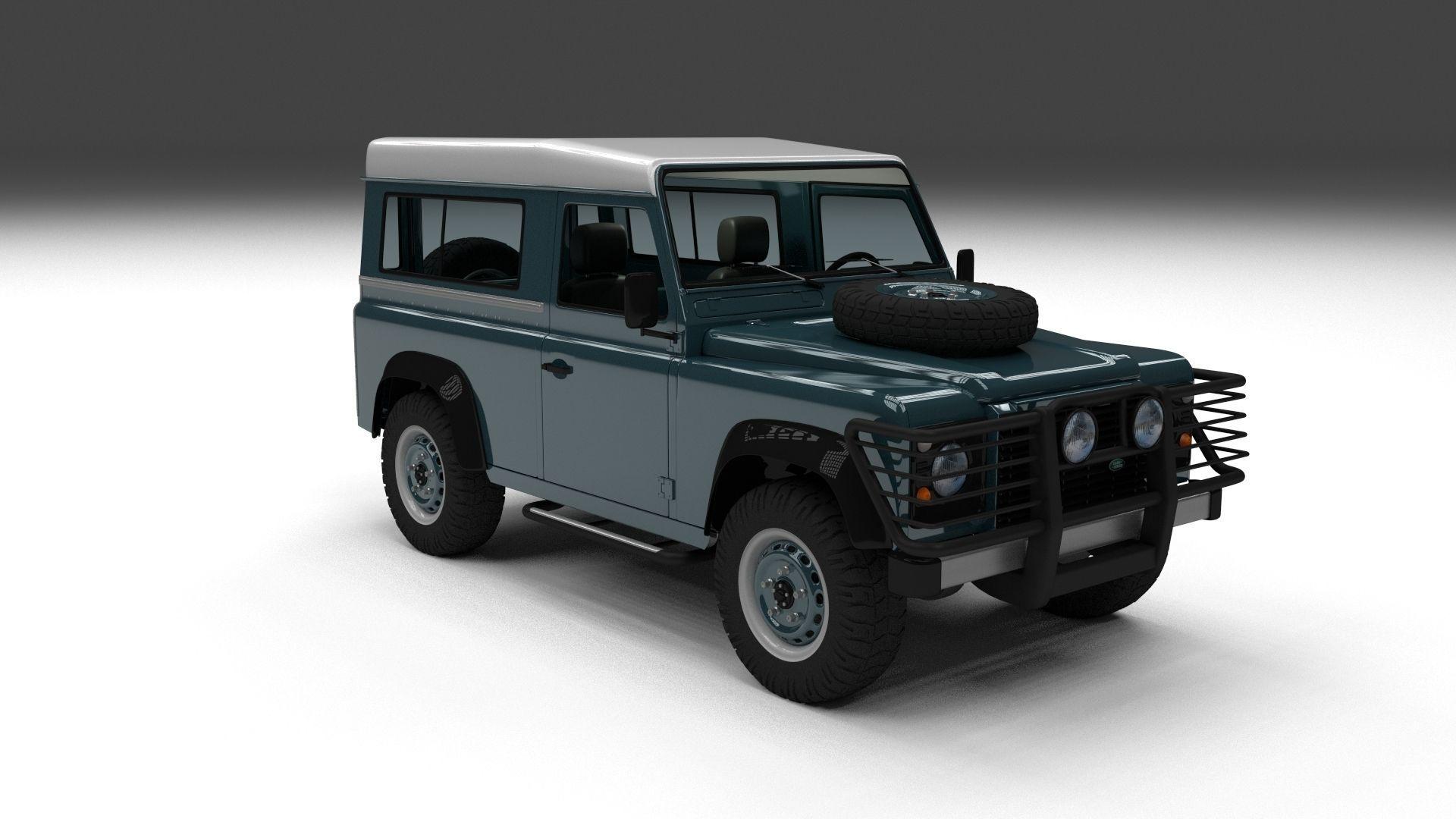 land rover defender 90 station wagon w int 3d model. Black Bedroom Furniture Sets. Home Design Ideas