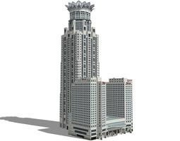 3D model The Westin Bund Center in Shanghai