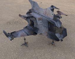 rigged 3d model hawk mach shuttle