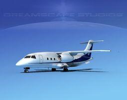 dornier 328jet club 328 3d model rigged