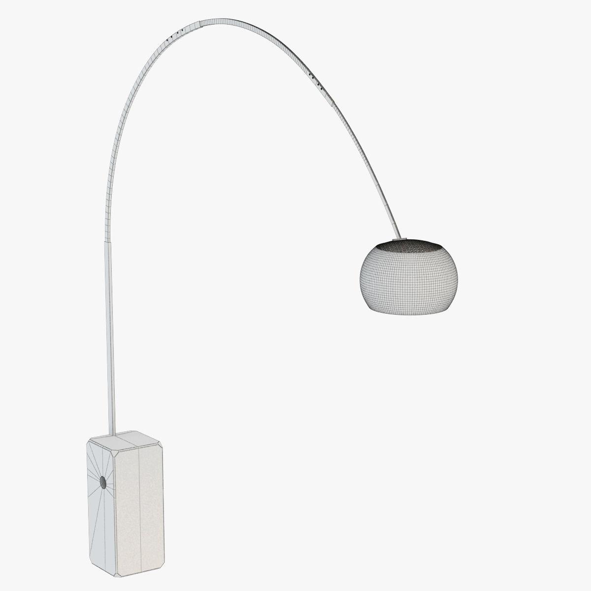 Floor lamp FLOS Arco 3D Model max obj fbx  CGTradercom