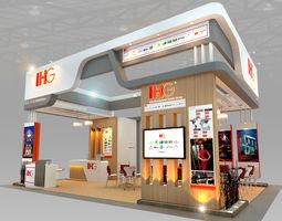3d model ihg hotel booth design