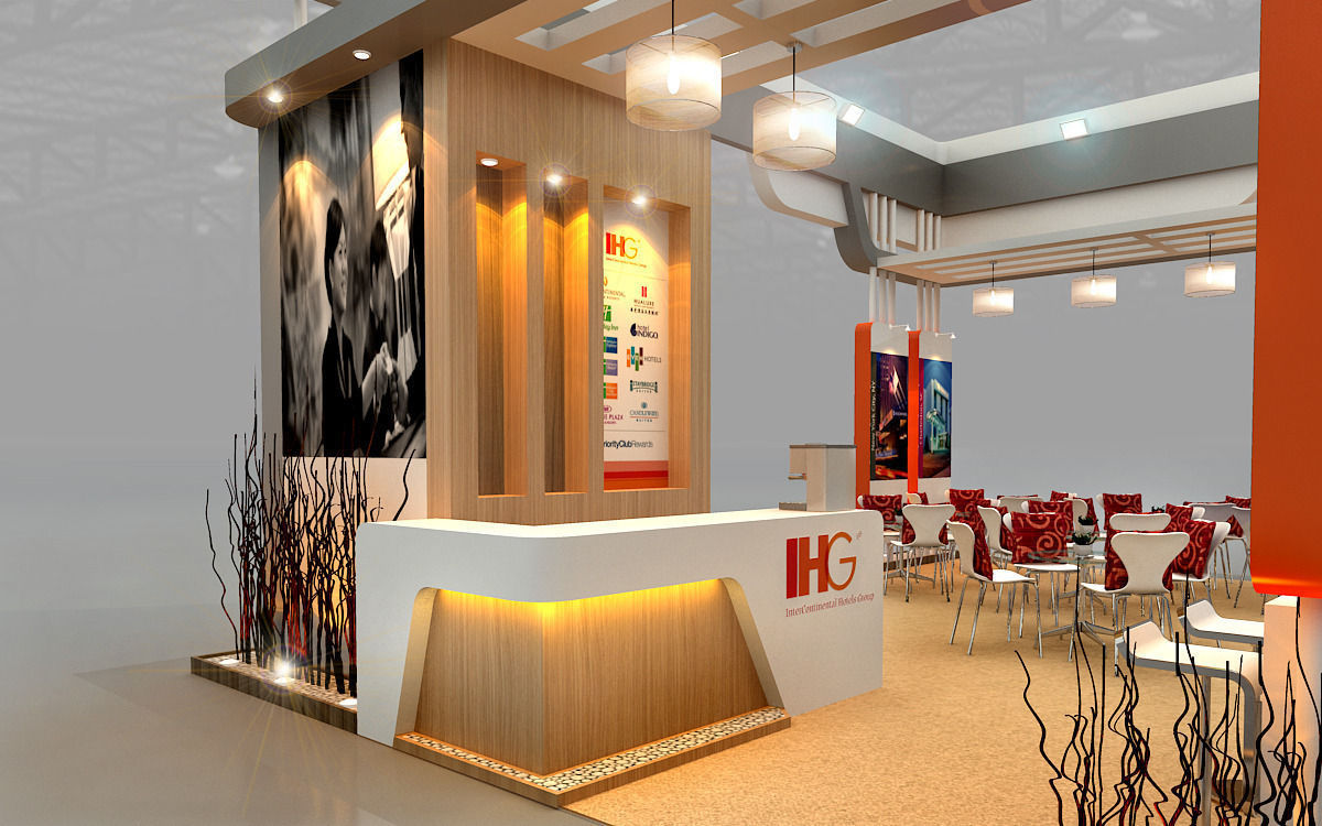 Ihg Hotel Booth Design 3d Model Max 3ds