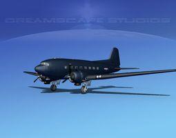 Douglas R-4D Dakota US Navy V4 3D Model