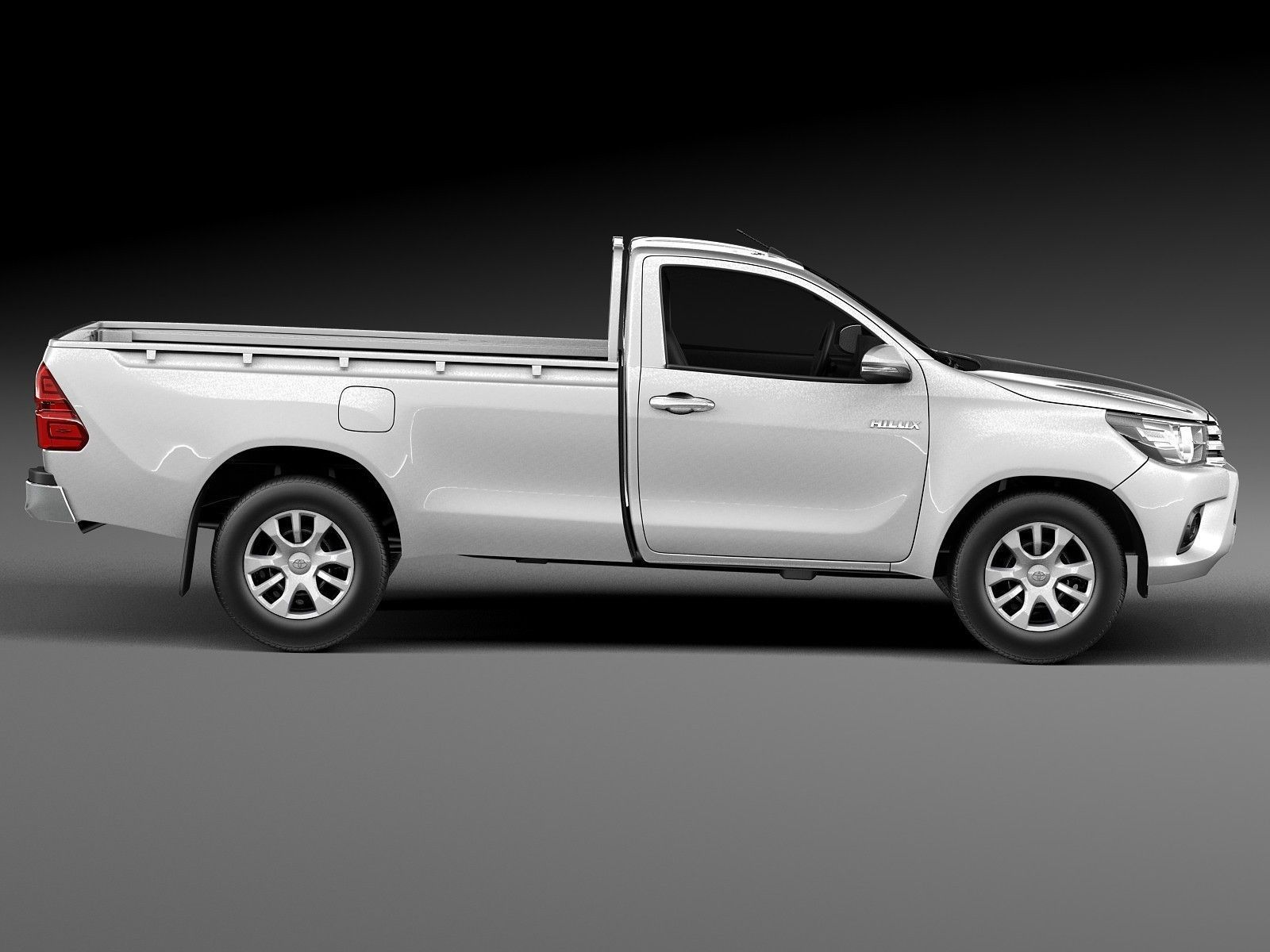 toyota hilux single cab 2016 3d model max obj 3ds fbx c4d lwo lw lws. Black Bedroom Furniture Sets. Home Design Ideas