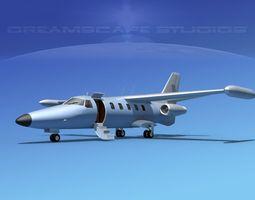 Dreamscape AT-48 Jet Executive Bare Metal 3D Model