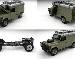 Full Land Rover Defender 110 Hard Top 3D model