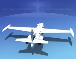 Dreamscape AT-48 Jet Executive V08 3D Model
