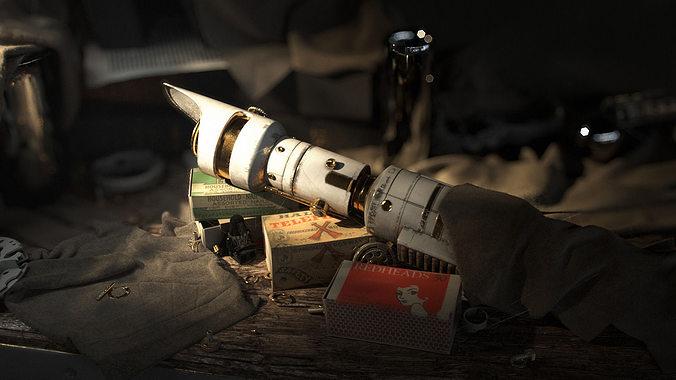 lightsaber 3d model max obj mtl stl 1