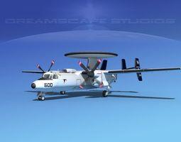 Grumman E-2C Hawkeye V14 3D Model