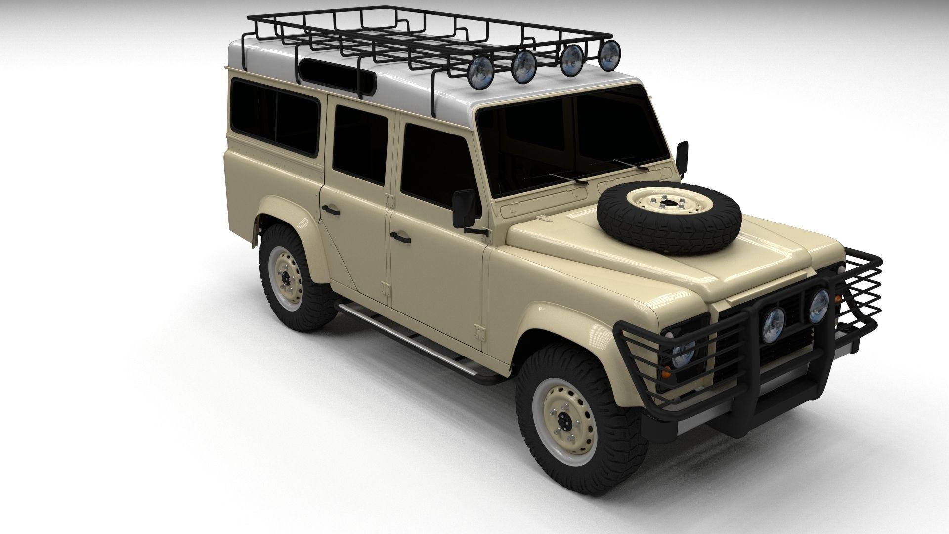 land rover defender 110 station wagon 3d model obj fbx. Black Bedroom Furniture Sets. Home Design Ideas