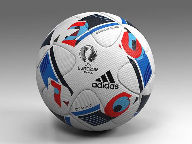 euro 2016 adidas beau jeu official ball uefa 3d model max obj fbx mtl 1