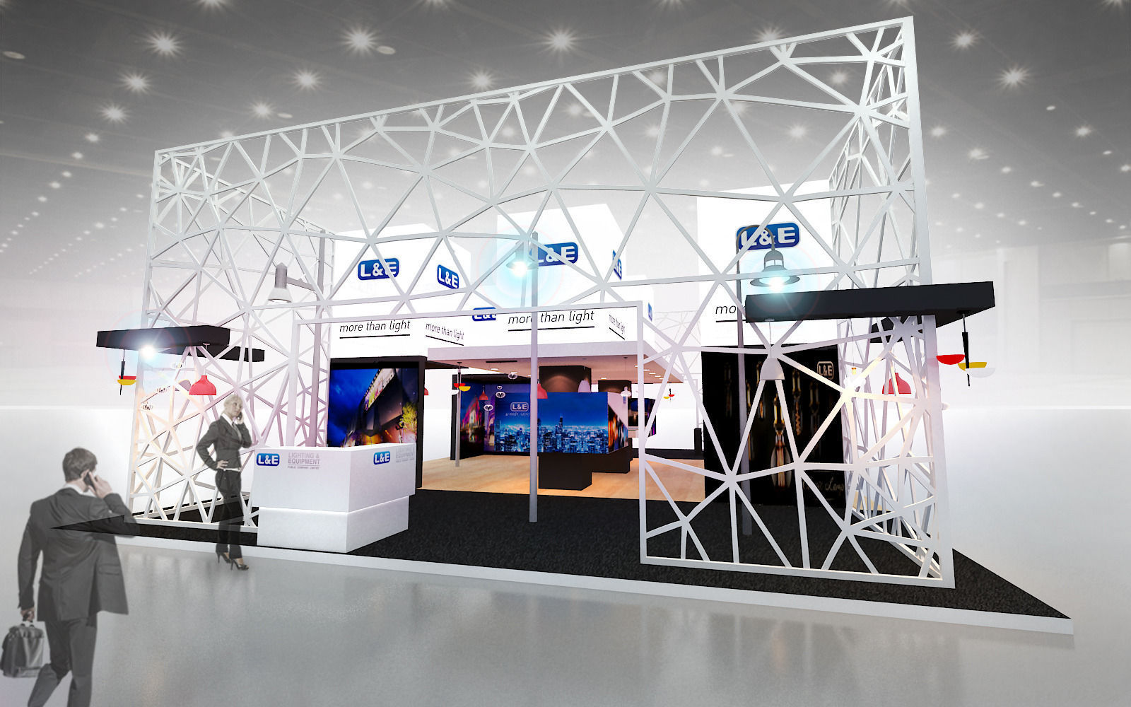 Exhibition Stand Lighting Questions : D max model exhibitions design lighting