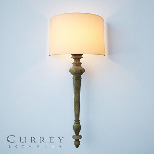 Wall Lights Models : Currey and Company 5091 Jargon ADA Wall Sconce 3D Model MAX OBJ MTL