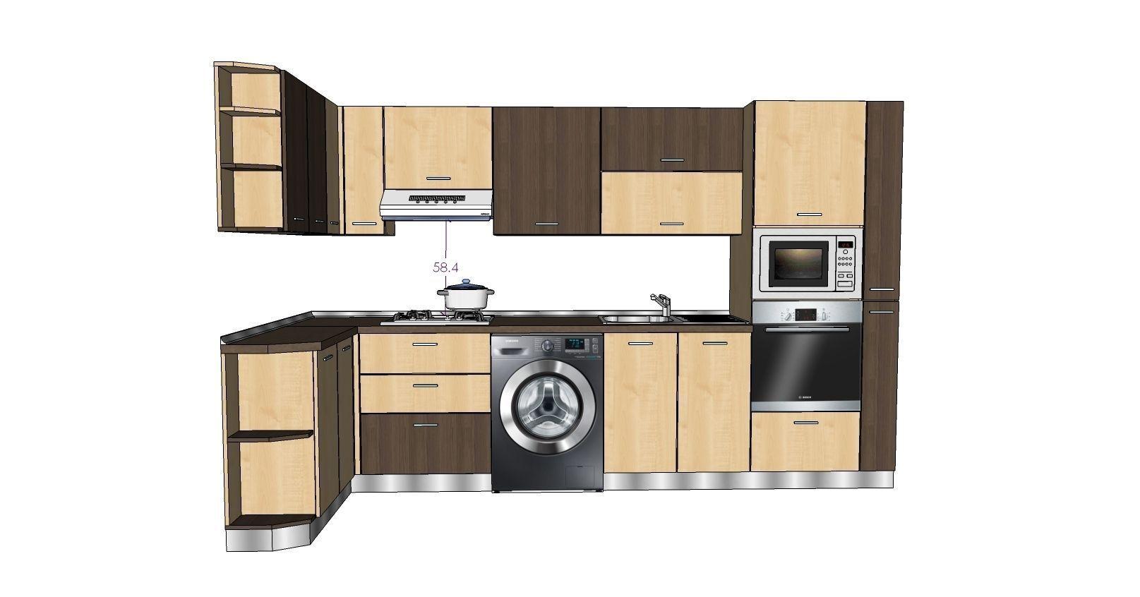 Kitchen To 3d Model Skp