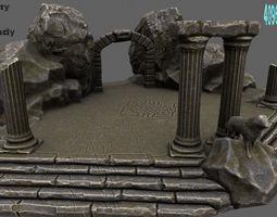 3D asset Temple rock