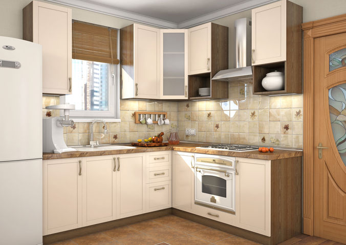 Kitchen milano 3d model max for New model kitchen