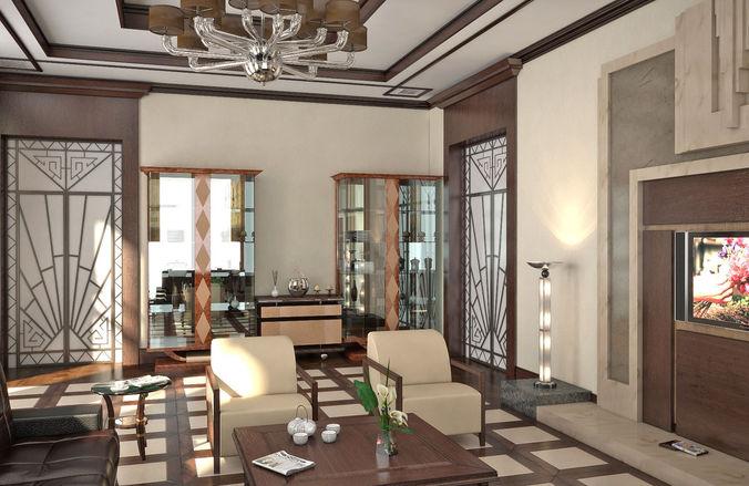 Design of interior scene3D model