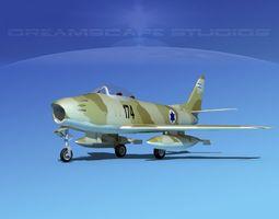 3d north american f-86 sabre jet iadf rigged
