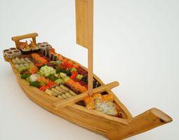 3d asset titanic sushi boat game-ready
