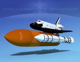 STS Shuttle Atlantis Basic Shuttle LP Launch 1-4 3D Model