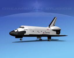 3d rigged sts shuttle atlantis landing mp 2-3