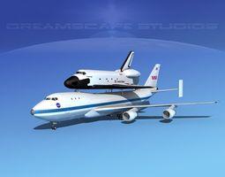 3d space shuttle challenger transport lp 1-2 747 rigged