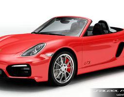 3D model Porsche Boxster GTS 2018