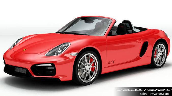 Porsche Boxster GTS 20153D model