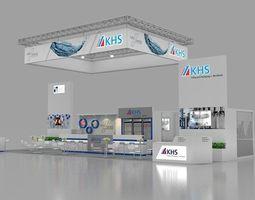 KHS 3d max booth design 3D Model